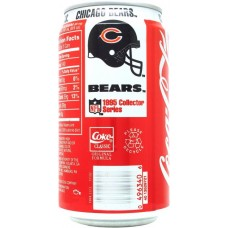 Coca-Cola Classic, NFL 1995 Collector Series - 18/30 - Chicago Bears, United States, 1995