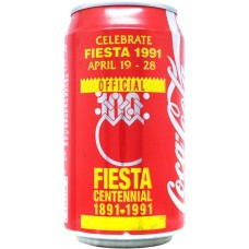 Coca-Cola Classic, Celebrate Fiesta 1991 April 19-28 - Fiesta Centennial 1891-1991, United States, 1991
