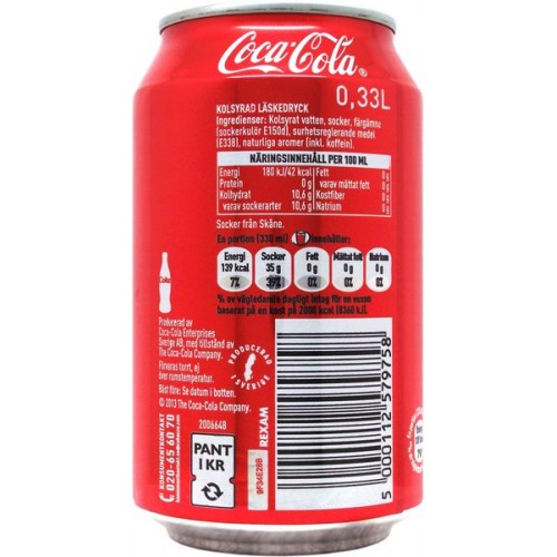 coca cola ingredienser