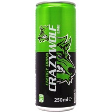 Crazy Wolf Energy Drink Lime, Czechia, Croatia, Poland, Romania, Slovakia, Bulgaria, 2013