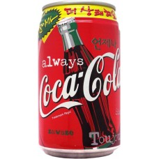 Coca-Cola / 코카콜라, 250ml + 80ml = 330ml, Korea, South, 1998