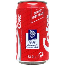 Coca-Cola Coke, Lillehammer 1994, France, 1993