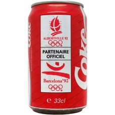 Coca-Cola Coke, Albertville 92 / Barcelona ´92 - Partenaire Officiel, France, 1992