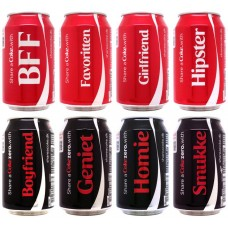 Complete set 8 cans Share a Coke with, Denmark, 2014