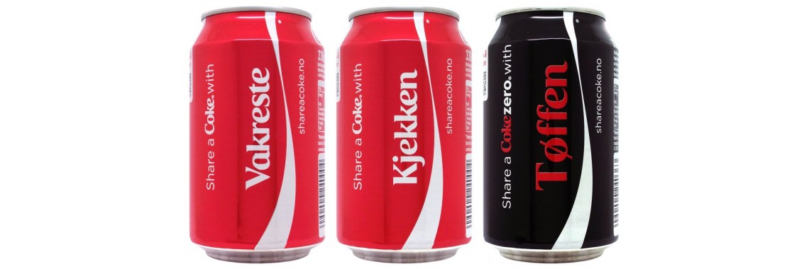 Complete Set Share a Coke from Norway, 2014